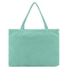 Mint Color Medium Zipper Tote Bag