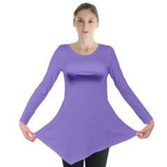 Lilac - purple color design Long Sleeve Tunic