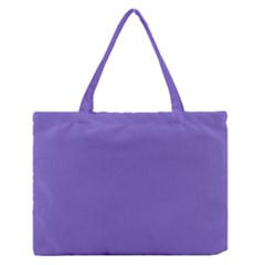 Lilac   Purple Color Design Medium Zipper Tote Bag