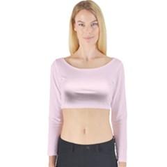 Pink color design Long Sleeve Crop Top