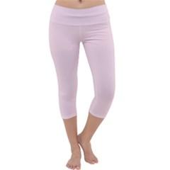 Pink color design Capri Yoga Leggings