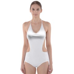 White color design Cut-Out One Piece Swimsuit