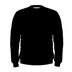Black Color Design Men s Sweatshirt