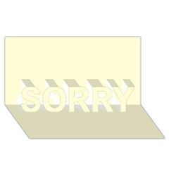 Yellow Color Design Sorry 3d Greeting Card (8x4)