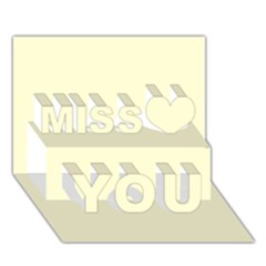 Yellow color design Miss You 3D Greeting Card (7x5)