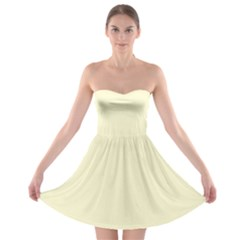 Yellow color design Strapless Bra Top Dress