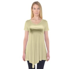 Gold Yellow Color Design Short Sleeve Tunic
