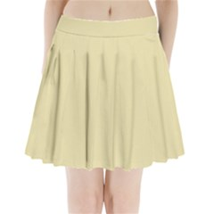 Gold Yellow Color Design Pleated Mini Skirt