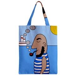 Sailor Zipper Classic Tote Bag