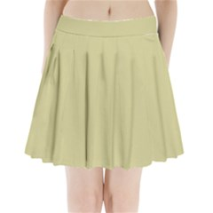 Brown Sand color design Pleated Mini Skirt