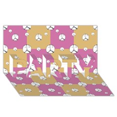Symbol Peace Drawing Pattern Party 3d Greeting Card (8x4)