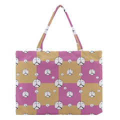 Symbol Peace Drawing Pattern Medium Tote Bag