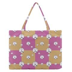 Symbol Peace Drawing Pattern Medium Zipper Tote Bag