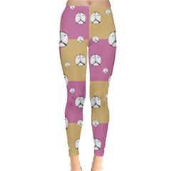 Symbol Peace Drawing Pattern  Leggings