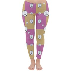 Symbol Peace Drawing Pattern  Winter Leggings