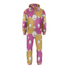 Symbol Peace Drawing Pattern  Hooded Jumpsuit (Kids)