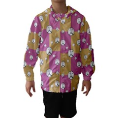 Symbol Peace Drawing Pattern  Hooded Wind Breaker (Kids)