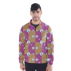Symbol Peace Drawing Pattern  Wind Breaker (Men)