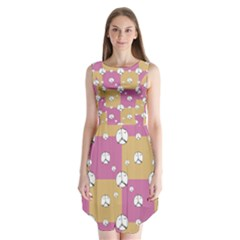 Symbol Peace Drawing Pattern  Sleeveless Chiffon Dress