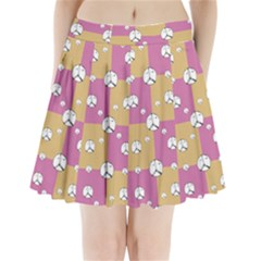 Symbol Peace Drawing Pattern  Pleated Mini Skirt