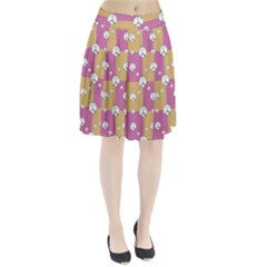 Symbol Peace Drawing Pattern  Pleated Skirt