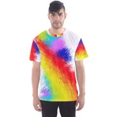 Particles Color Colorful Wave Men s Sport Mesh Tee