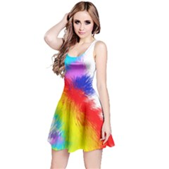 Particles Color Colorful Wave Reversible Sleeveless Dress