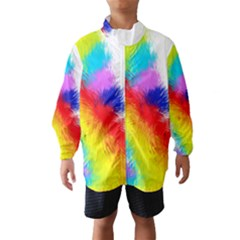 Particles Color Colorful Wave Wind Breaker (Kids)