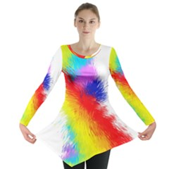 Particles Color Colorful Wave Long Sleeve Tunic
