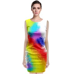 Particles Color Colorful Wave Classic Sleeveless Midi Dress