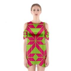 Pattern Background Texture Aztec 2 Cutout Shoulder Dress