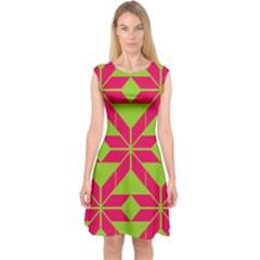 Pattern Background Texture Aztec 2 Capsleeve Midi Dress