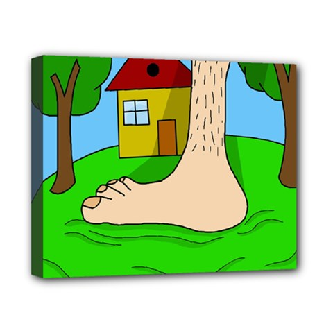 Giant foot Canvas 10  x 8