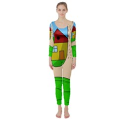 Giant foot Long Sleeve Catsuit