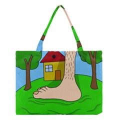 Giant foot Medium Tote Bag