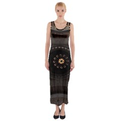 Pattern Design Symmetry Up Ceiling Fitted Maxi Dress