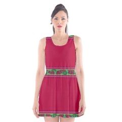 Pattern Ornaments Mexico Cheerful Scoop Neck Skater Dress