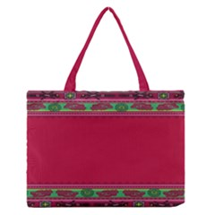 Pattern Ornaments Mexico Cheerful Medium Zipper Tote Bag