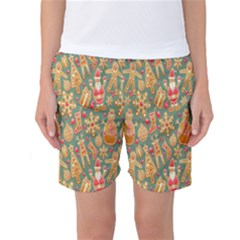 Pattern Seamless Gingerbread Women s Basketball Shorts