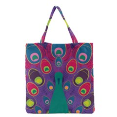 Peacock Bird Animal Feathers Grocery Tote Bag