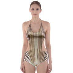 Peacock Peacock Wheel Bird Nature Cut-Out One Piece Swimsuit