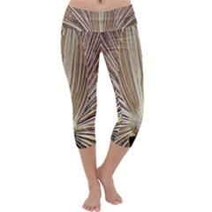 Peacock Peacock Wheel Bird Nature Capri Yoga Leggings