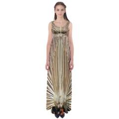 Peacock Peacock Wheel Bird Nature Empire Waist Maxi Dress