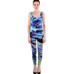 Colorful Floral Art OnePiece Catsuit