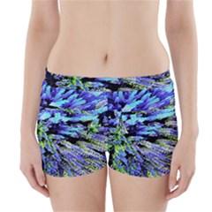 Colorful Floral Art Boyleg Bikini Wrap Bottoms