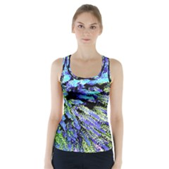 Colorful Floral Art Racer Back Sports Top