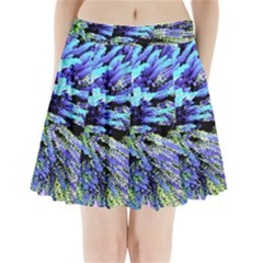 Colorful Floral Art Pleated Mini Skirt