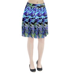 Colorful Floral Art Pleated Skirt