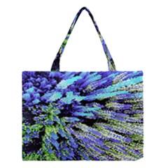 Colorful Floral Art Medium Tote Bag