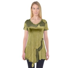 Stylish Gold Stone Short Sleeve Tunic